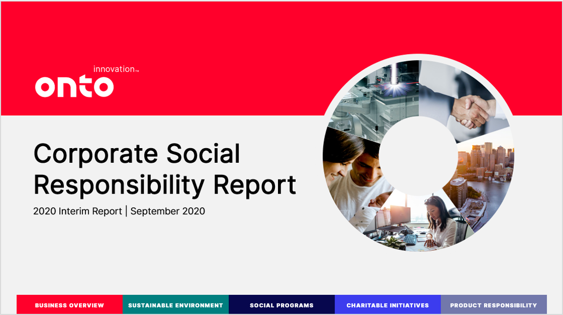 Onto Innovation Corporate Social Responsibility Report
